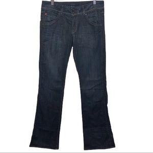 Hudson Bootcut Jeans Dark Wash Flap Pocket Stretch